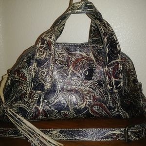 Patricia Nash Feathered Paisley Leather Handbag